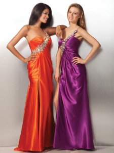 Charmeuse prom dress 17148