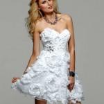 Clarisse white homecoming dress 2014