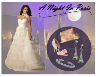 A Night in Paris theme dress