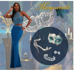 Masquerade ball dress