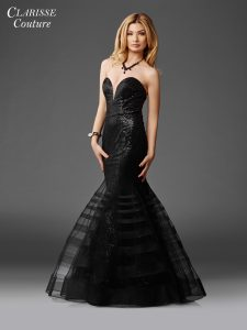 Black Rose Elegant Prom Dress 4950